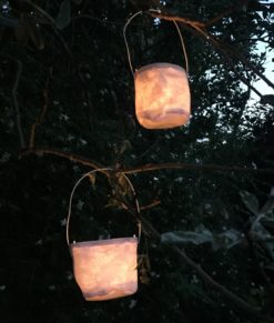 Canvas Tealight Lantern with Glass Insert