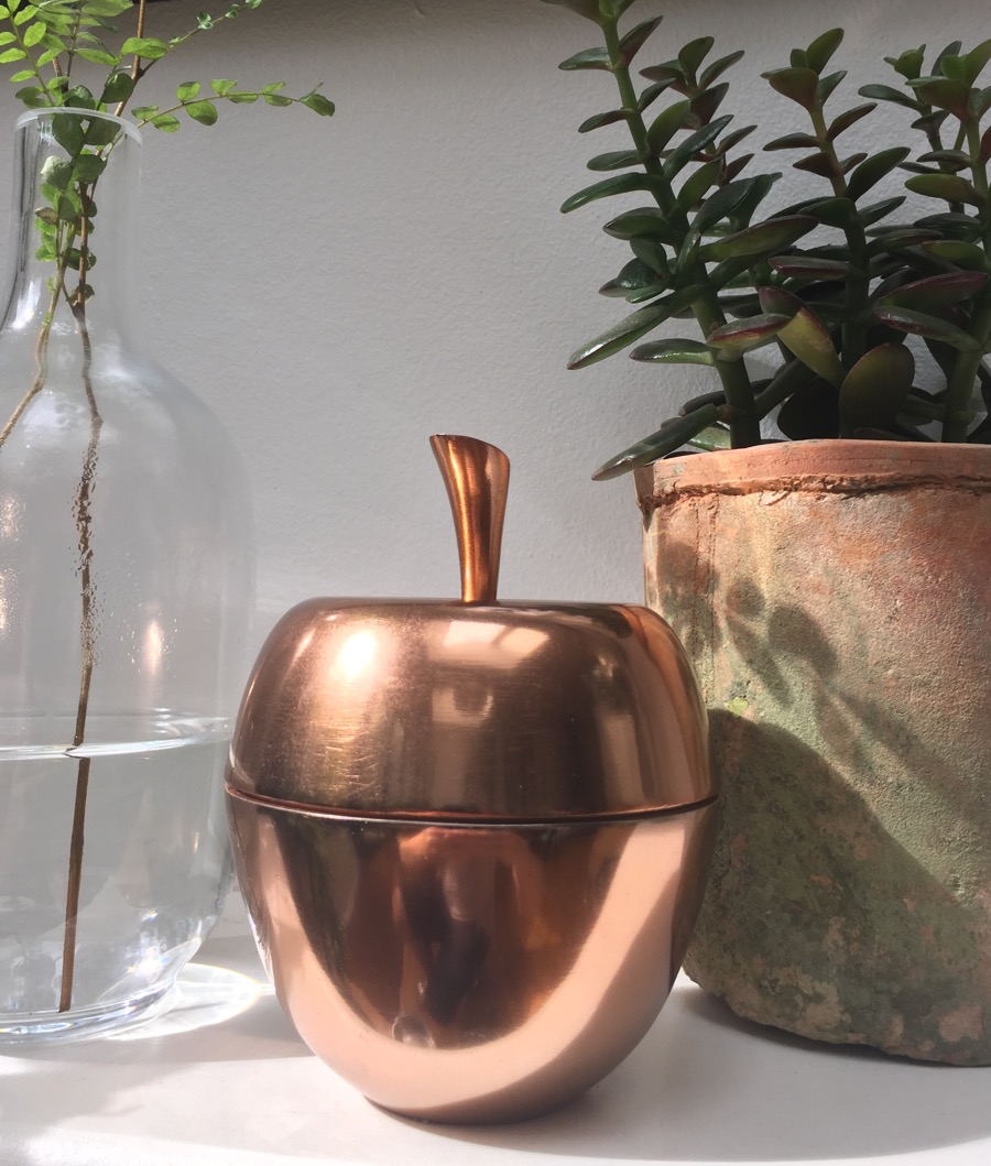 Copper Apple Trinket Box