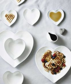 Stoneware Heart Plate Collection