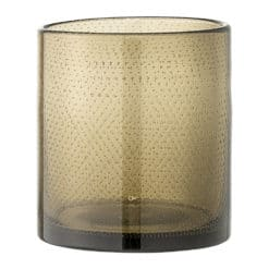 Bloomingville - Glass Pot with Bubbles - Smoke