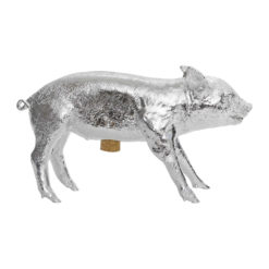 Areaware - Reality Collection Bank in the Form of a Pig Money Bank - Chrome