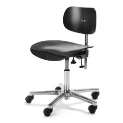 S197R Swivel Office Chair Black & Chrome