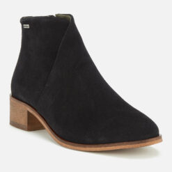 Barbour Women's Caryn Suede Heeled Ankle Boots - Black - UK 6