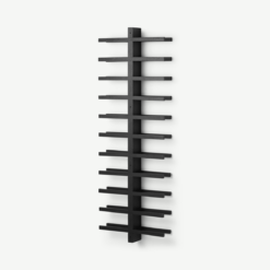 Clover Acacia Wood 22 Bottle Wall Mounted Wine Rack, Black Stain