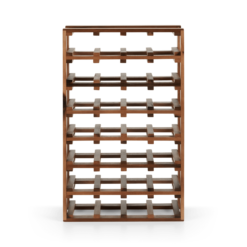 Clover Acacia Wood Extra Large 28 Bottle Wine Rack, Natural