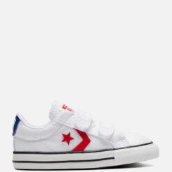Converse Toddlers' Star Player Ox Velcro Trainers - White/University Red - UK 4 Baby