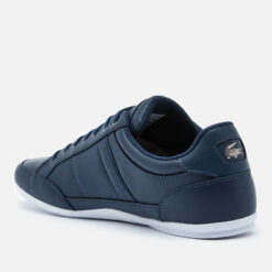 Lacoste Men's Chaymon Bl 1 Leather Low Profile Trainers - Navy/White - UK 7