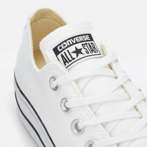 Converse Women's Chuck Taylor All Star Lift Ox Trainers - White/Black/White - UK 7