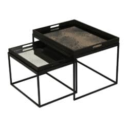 Ethnicraft - Rectangular Nesting Tray Table Set
