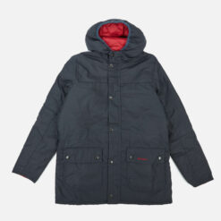 Barbour Heritage Boys' Durham Wax Jacket - Navy/Red - S (6-7) Years