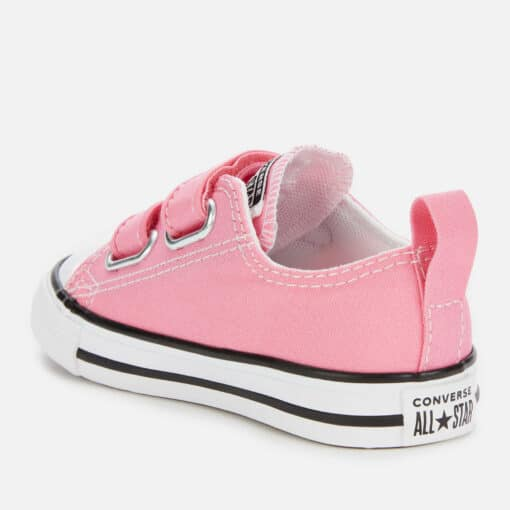 Converse Toddlers' Chuck Taylor All Star Ox Velcro Trainers - Pink - UK 9 Kids