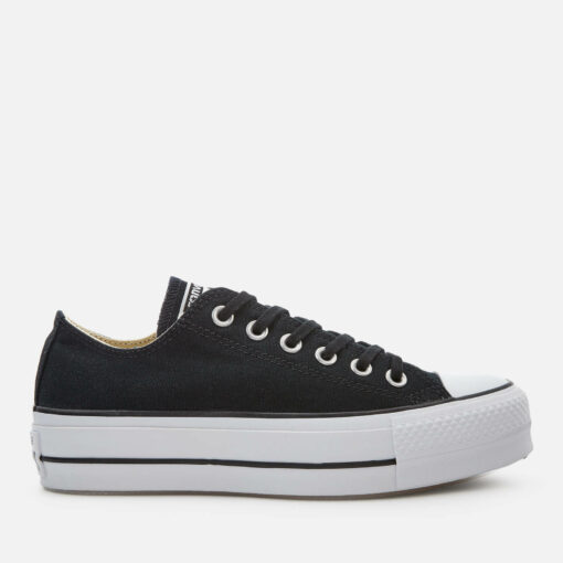 Converse Women's Chuck Taylor All Star Lift Ox Trainers - Black/White/White - UK 6