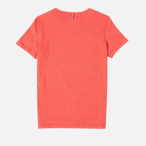 Tommy Hilfiger Boys' Basic Short Sleeve T-Shirt - Apple Red Heather - 8 Years