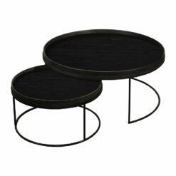 Ethnicraft - Round Tray Table - Set of 2 - Extra Large - Low