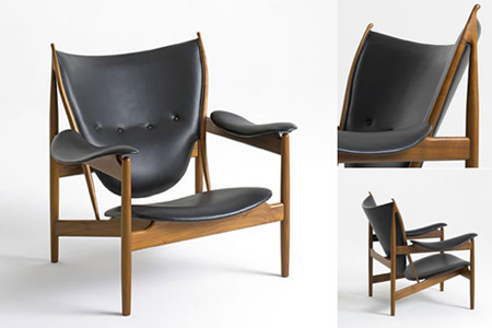 Multiple angles of the Chieftain Chair by Finn Juhl